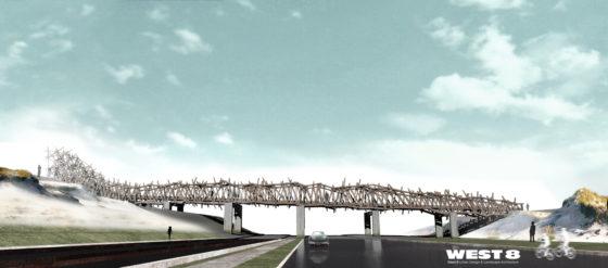 Voetgangersbrug lijkt wrakhout