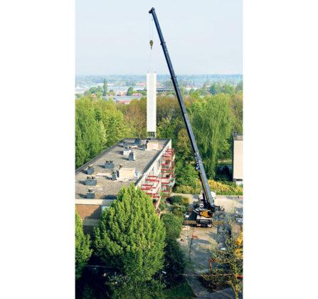 Möhringer spaart veel tijd met installatie prefab lift