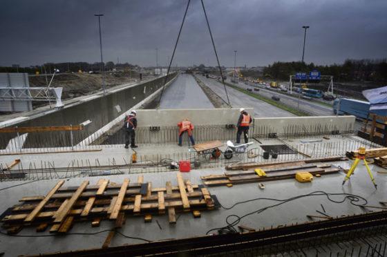 Viaduct A2 vordert snel