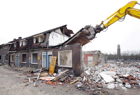 Volkswijk in puin