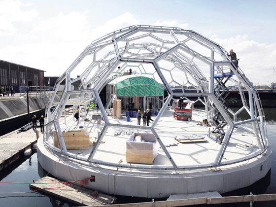 Drijvend Paviljoen krijgt vorm