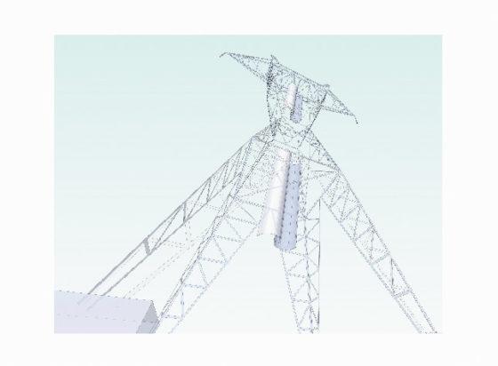 Rotoren in hoogspanningsmasten