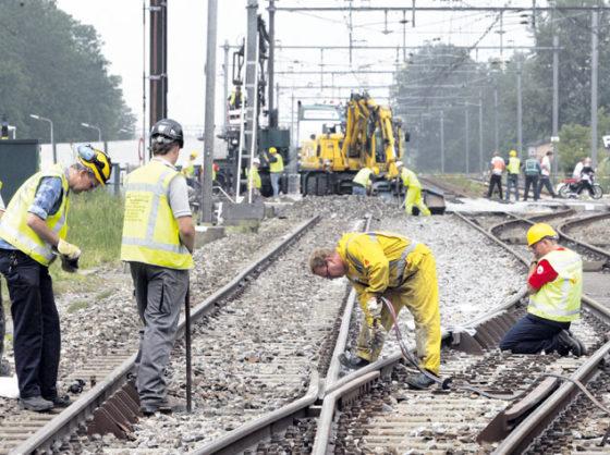 Veiligheid spoorwerkers blijft beroerd: 5 ernstige ongelukken