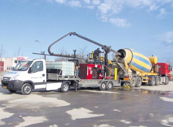 Robot reinigt truckmixer
