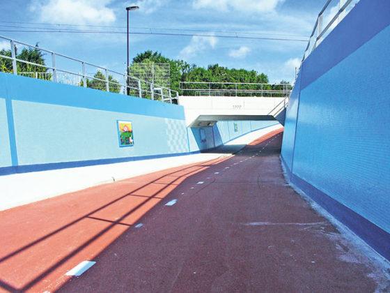 'Blauwe tegeltunnel is graffitibestendig'