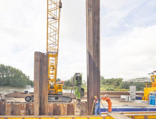 Nieuwe damwanden voor Lage Rijnkade