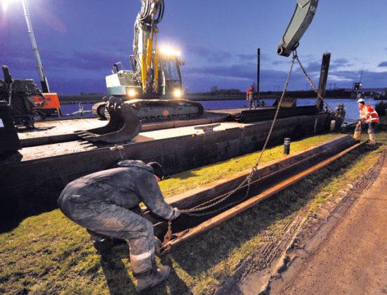 Damwandplanken voor nieuwe kades