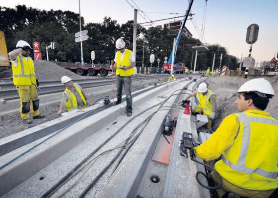 Nieuwe techniek bij Utrechts tramspoor