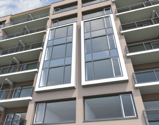 Appartementen in recordtijd voorzien van nieuwe gevel