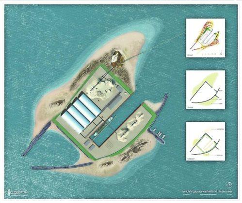 Werkeiland in IJsselmeer voor opslag zand
