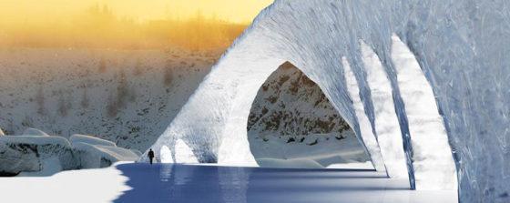 Mengen en pompen voor ijsbrug