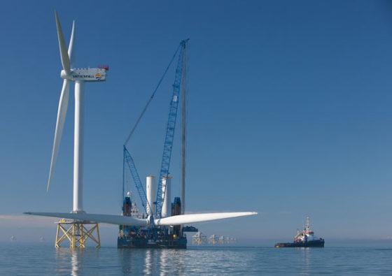 Laatste turbine geplaatst