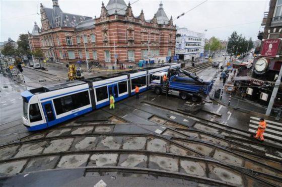 Nieuwe tramrails