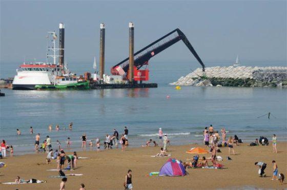 Strekdammen haven Oostende