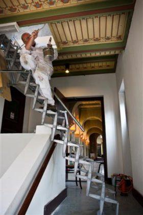 Restauratie synagoge Groningen logistiek geen alledaagse klus