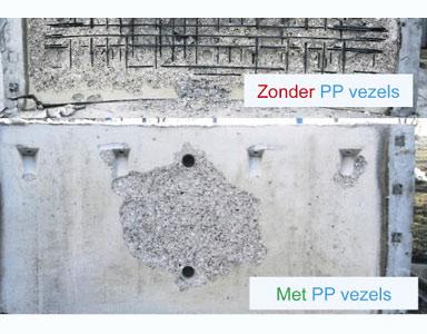 Kunststofvezels moeten brandveiligheid van tunnel garanderen