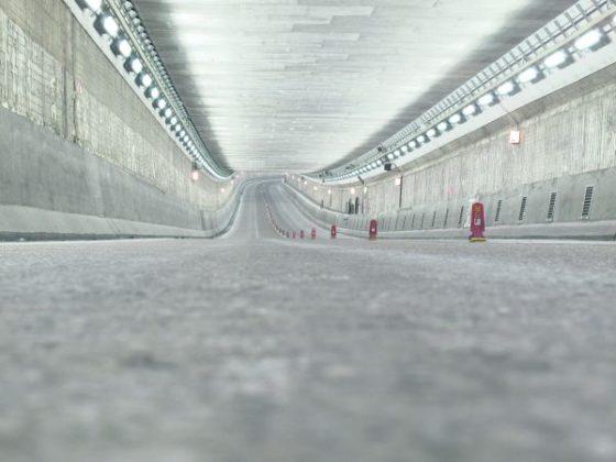 IJtunnel ongemerkt uitgerust met Led-verlichting