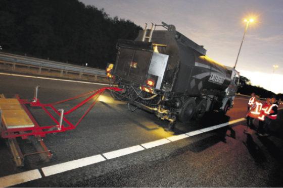 Antirimpelcrème op asfalt snelwegen