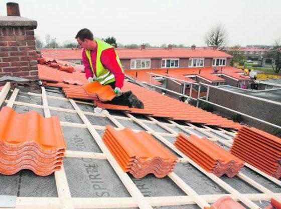 Plattedakenpan grootschalig toegepast bij renovatie