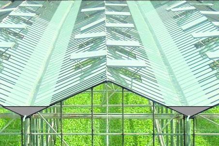 Waterberging in goten van glasdek tuinbouwkas