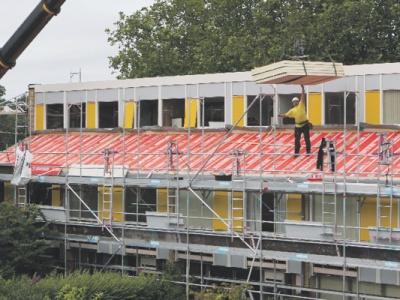 Oprolbare dakgoot biedt uitkomst voor renovatieproject