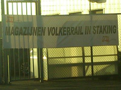 Personeel magazijnen Volker Rail in staking