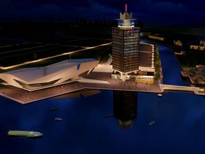 Shell-toren omgebouwd tot mix van hotel en club