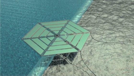 Drijvende eilanden met zonnepanelen