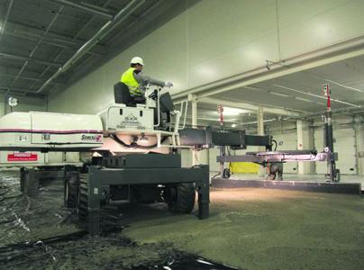 Gestorte betonvloer vertoont geen krimp