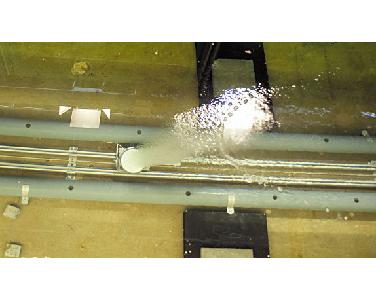 Bellenscherm vermindert zoutindringing