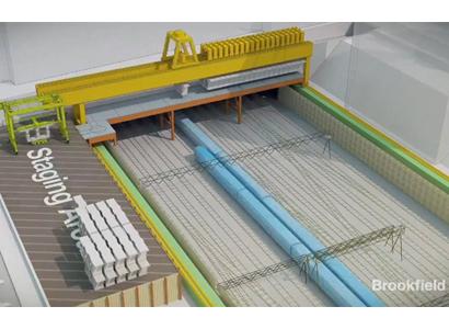 Betonnen dek van 12.000 vierkante meter boven spoorlijnen