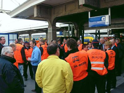 Opnieuw stakingen spoorwerkers