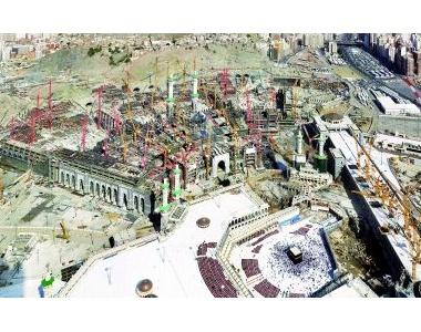Bekisting voor moskee in Mekka