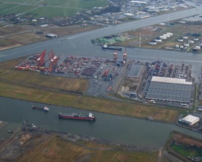 Zicht op nieuwe bestemming containerhaven Amsterdam