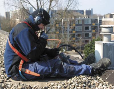 Renovatie-proef met standleiding van asbestcement