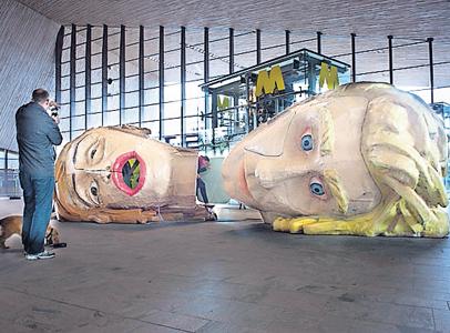 VVV Rotterdam huist in twee reuzenhoofden