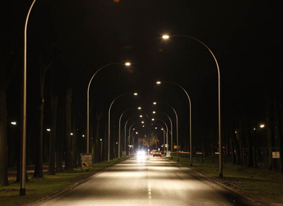 Straatverlichting regelbaar via app op telefoon
