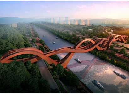 Next bouwt Chinese voetgangersbrug