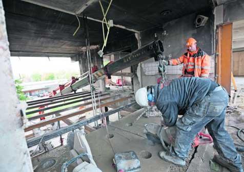 Herstel constructie flat na explosie