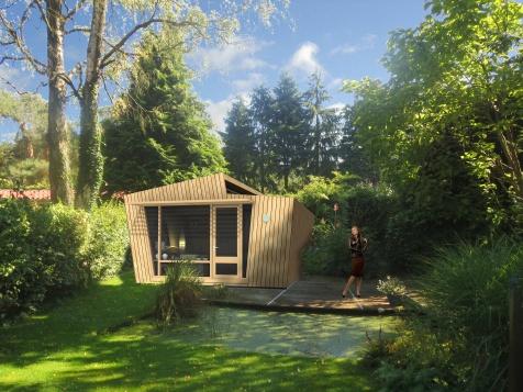 Zorgwoning van FSC-sloophout voor in je achtertuin