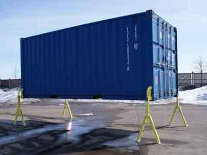 Kraan of heftruck overbodig bij lossen container