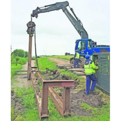 Damwanden beschermen dijk tegen beving