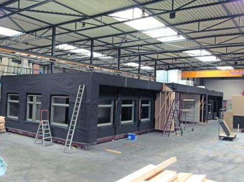 Vier sterren Breeam voor modulair houtskeletbouwkantoor