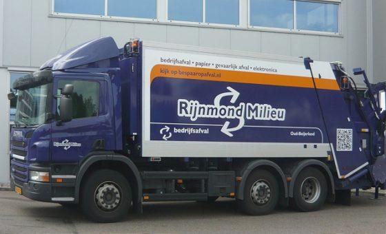Scania met start-stop systeem bespaart brandstof bij Rijnmond Milieu
