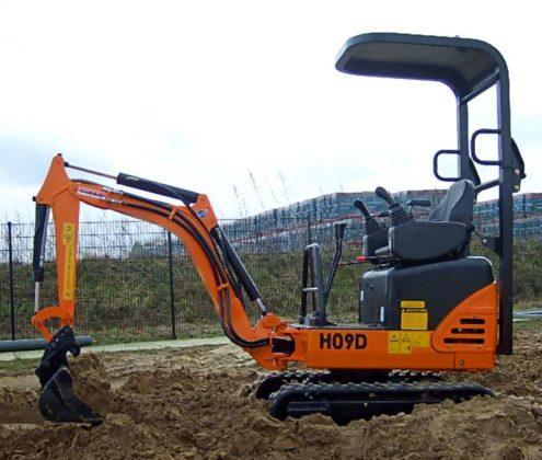 Nieuwe minigraver van Hanix op TKD