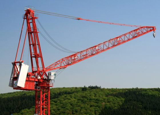 Wilbert bouwt grootste toptorenkraan