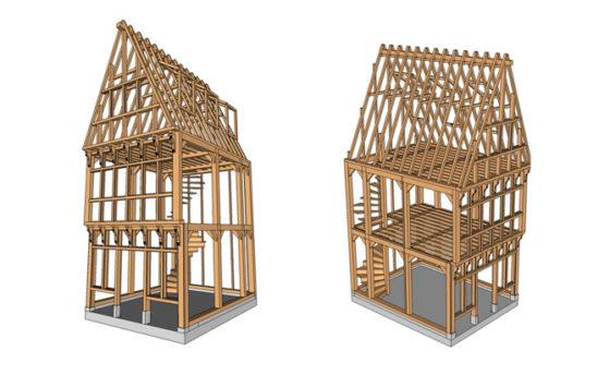 Delft krijgt replica houten vakwerkhuis uit zeventiende eeuw