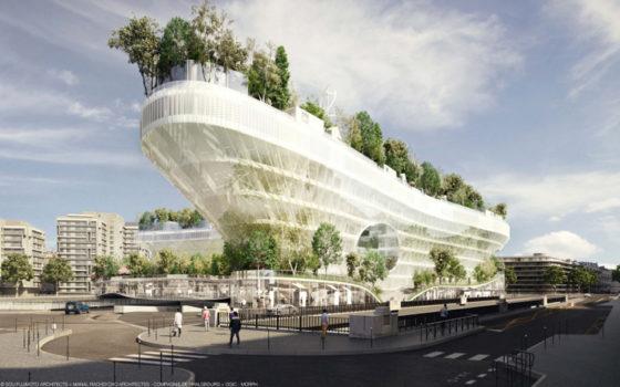 Parijs gaat voor gebouw met 1000 bomen op dak