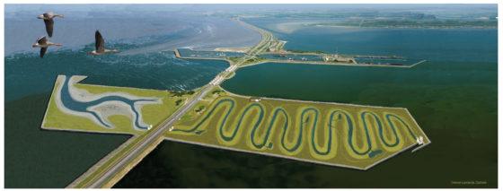 Slingerende rivier laat vis Afsluitdijk passeren
