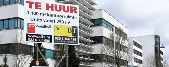 'Amsterdamse kantoren staan minder vaak leeg'